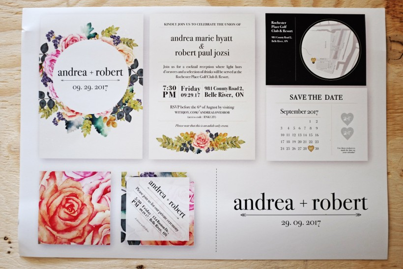 Wedding invitations :: Andrea + Rob